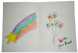 Sample Interior of Card for Kids
